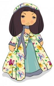 a beautiful Jewish girl in a dress